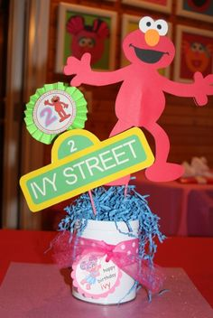 Decorations at a Sesame Street Party #sesamestreet #partydecor