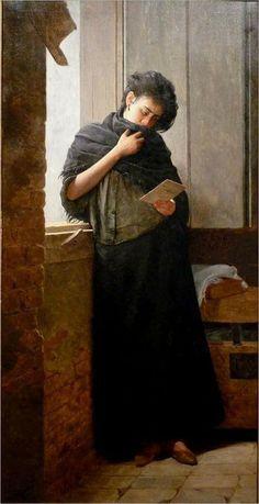 """José Ferraz de Almeida (1850-1899)  """"Nostalgia"""" Es probablemente el más importante pintor brasileño del siglo XIX y una gran inspiración para los pintores modernistas."""