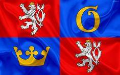 Download wallpapers Flag of Hradec Kralove Region, silk flag, 4k, official symbols, flags of administrative units, Czech Republic, Hradec Kralove Region National Flag, Czech Republic, The Unit, Wallpaper, Flags, Weapon, Mugs, Flag Art, Memories