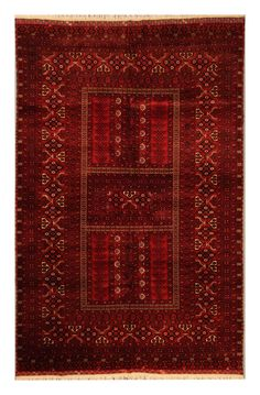 made by turkman tribes in north Afghanistan. It is a triditional design called Parda.It is around 20-30 years old.Width:5' 3'' (160cm) - 8' 1''(246cm)Afghan