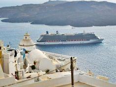 Celebrity Cruises Reflection visiting Santorini