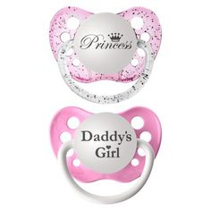 ulubulu 2pk Pacifiers Daddy's Girl/Princess target.com