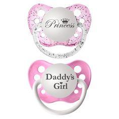 ulubulu 2pk Pacifiers Daddy's Girl/Princess target.com