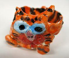 2nd grade pinch pot tigers