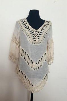 Remeron Crochet Poncho - $ 230,00