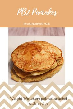 PB2 Pancakes - Weight Watchers Freestyle recipe. #weightwatchers #weightwatchersrecipes #PB2 #pancakes