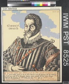 Our Heritage [Francis Drake] Yellow Background, Drake, It Is Finished, Velvet
