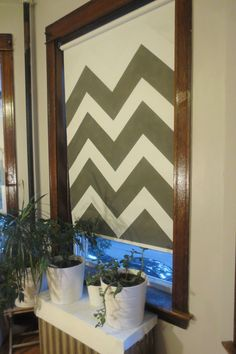 turn your ugly vinyl roller shade into a work of art