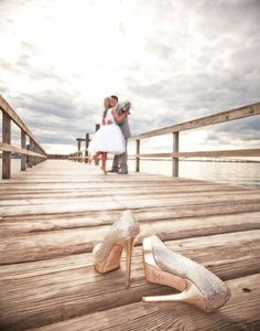 Wedding Photo Ideas - A great idea of how to squeeze your much-loved wedding shoes into your wedding pictures!