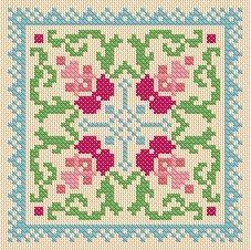 Hollyhocks Cross Stitch PDF Chart Pattern Instant Download