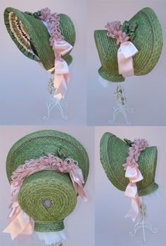 1830's Romantic Period Bonnet PATTERN BY LYNN MCMASTERS