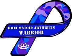 rhematoid arthritis ribbon | Custom Ribbon: Rheumatoid Arthritis / Warrior