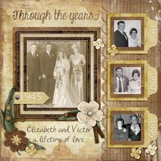 Love the Family History template pack by LissyKay Designs. Here I used photos of my parents over a 50 year span with this template plus   Vintage Fair a GDS March 2014 Special Collab     Family History Template pack by LissyKay Designs