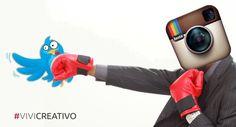 """Visual per l'articolo """"Instagram supera Twitter"""" http://www.vivicreativo.com/instagram-supera-twitter/"""