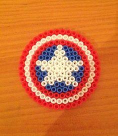 captain america perler bead - Google Search
