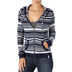 Quiksilver WOMENS ORIGINAL CURRENTS STRIPED HOODIE. $62.99