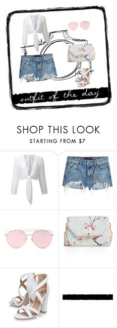 """""""Untitled #240"""" by bonniesock ❤ liked on Polyvore featuring T By Alexander Wang, LMNT, Ted Baker, Miss KG and Tim Holtz"""