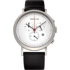 Buy Mens Bering Classic Watch here at Hillier Jewellers. Official stockist of Bering Watches with a huge range of Mens Chronograph Bering Watches including Gents Watches, Watches For Men, Unique Watches, Wrist Watches, Watch Model, Silver Man, Sport, Stainless Steel Case, Fashion Watches