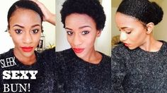 How To Create A Faux Bun On A TWA Read the article here - http://www.blackhairinformation.com/general-articles/hairstyles-general-articles/create-faux-bun-twa/ #naturalhairstyles #TWA #fauxbun