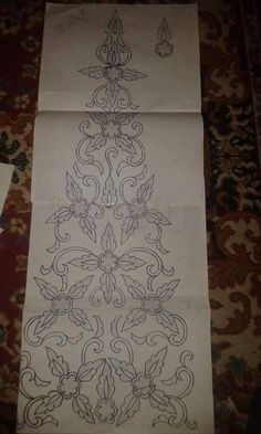 Embroidery Patterns Free, Hand Embroidery Designs, Ribbon Embroidery, Floral Embroidery, Fabric Patterns, Mexican Embroidery, Fabric Jewelry, Crochet Motif, Pattern Drafting