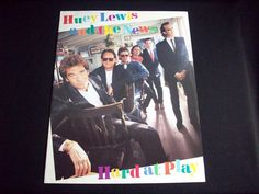 "Huey Lewis and the News, ""Hard At Play"" Promotional Biography and Photograph"