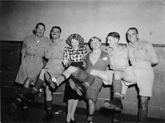 Judy Garland and Mickey Rooney entertaining the soldiers-- Supporting the troops since way back when!