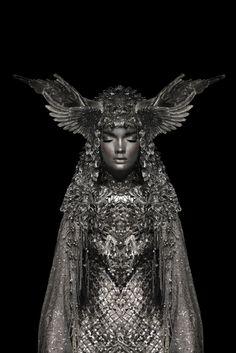 Modern fairytale / dark tales / karen cox.  Silver Knight by Garjan Atwood, via Behance