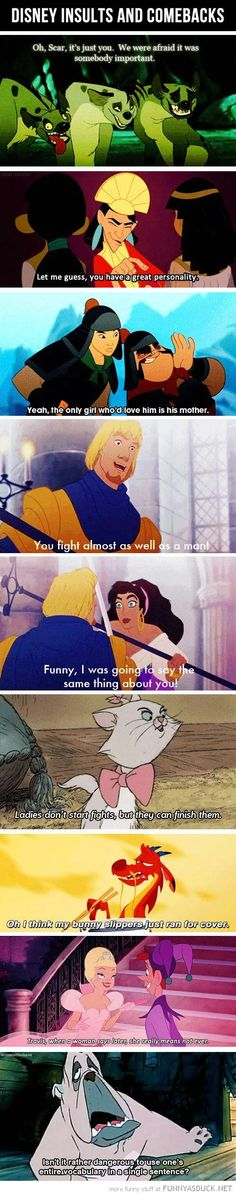 Disney insults: isn't it rather dangerous to use one's entire vocabulary in a single sentence?