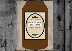 Rustic Adult Male Beer Birthday Party by MakinMemoriesOnPaper, $10.00