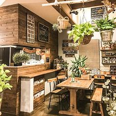 Cheap Home Decoration Stores Diy Interior, Cafe Interior, Interior Decorating, Coffee Shop Design, Cafe Design, Bakery Kitchen, Kitchen Decor, Japanese Coffee Shop, Japanese Kitchen