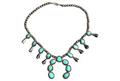 Navajo Squash Blossom   Necklace on OneKingsLane.com