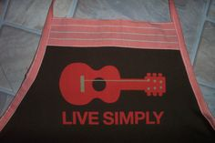 Live Simply Apron or Adult Bib by funfoodsaprons on Etsy