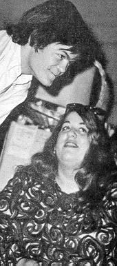 Micky Dolenz (The Monkees) and 'Mama' Cass Elliot (The Mamas And the Papas). Mickey Dolenz, Michael Nesmith, George Martin, Pop Rock Bands, Davy Jones, The Monkees, Mamas And Papas, Pop Rocks, Listening To Music