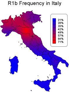 R1b Map Italy