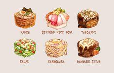 Real Food Recipes, Yummy Food, Food Texture, Cute Food Art, Cute Food Drawings, Watercolor Food, Food Painting, Food Illustrations, Aesthetic Food