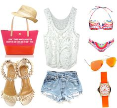 """""""summer outfit for beach"""" by alybou on Polyvore"""
