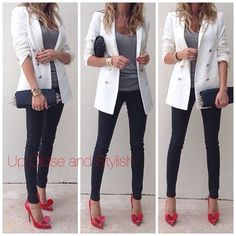 White, Grey, Black and Red  Suggested instagram follow:  @upcloseandstylish