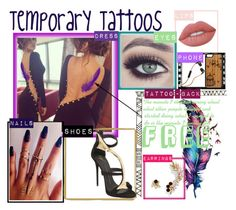 """""""Free"""" by tanyamareeq ❤ liked on Polyvore featuring Giuseppe Zanotti, Lime Crime, BaubleBar, Skullcandy and temporarytattoo"""