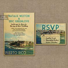 PERFECTO! Puerto Rico Wedding Invitation  Printable by NiftyPrintables