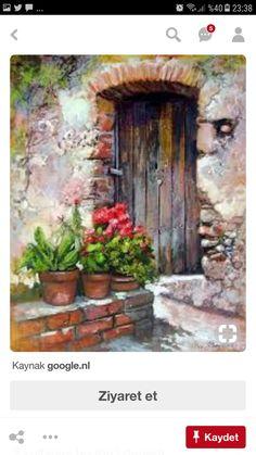 Watercolor Landscape, Landscape Art, Watercolor Flowers, Landscape Paintings, Watercolor Paintings, Watercolors, Marilyn Monroe Painting, Building Painting, Small Canvas Art