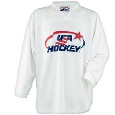 White USA Hockey practice jersey