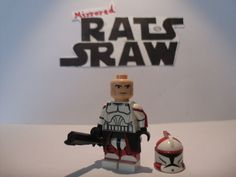 Lego Star Wars minifigures - Clone Custom Troopers - Commander Ponds Star Wars Clone Wars, Lego Star Wars, Lego Guns, Lego Clones, Star Wars Minifigures, Clone Trooper, Dexter, Ponds, Legos