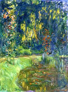 Claude Monet. Water Lily Pond at Giverny (1919).