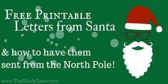 Check out these free printable Santa Letters, then learn how to have them postmarked from the North Pole and surprise your child with an unforgettable moment!