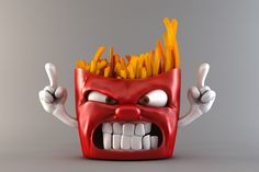 French Fries Character by Francisco Kitzberger, via Behance
