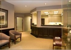 Law Office, Classic Paneling, Chair Rail W/contrasting Color, Plush Seating