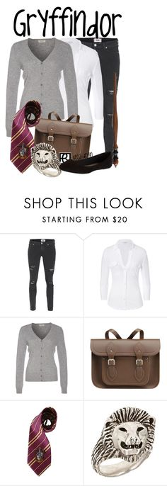 """""""House Uniform"""" by lovelylittledisney ❤ liked on Polyvore featuring Paige Denim, James Perse, Repeat, The Cambridge Satchel Company, Tina Tang and dELiA*s"""