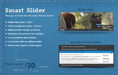 Smart Slider For Wordpress - Truly amazing Slideshow plugin. I really recommenc it to wordpress users.