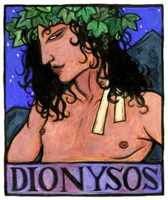 Dionysos, Greek God of Wine by Thalia Took