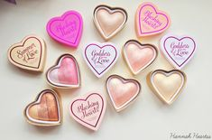 I ♡ Makeup Blushing Hearts-Hot Summer of love - Google Search
